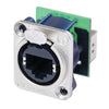 Neutrik etherCON Cat5 Chassis Mount - Feedthrough, Nickel - NE8FDP - Neon Production Supply