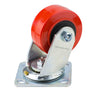 "Penn Elcom 4""x2"" 700lb Heavy Duty Swivel Caster, Red, 8408HD - Neon Production Supply"