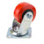 "Penn Elcom 4""x2"" 700lb Heavy Duty Swivel Caster, Red, 8408HD"