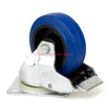 "Penn Elcom 4"" 440lb Braked Swivel Caster, Blue, W0985V6 - Neon Production Supply"
