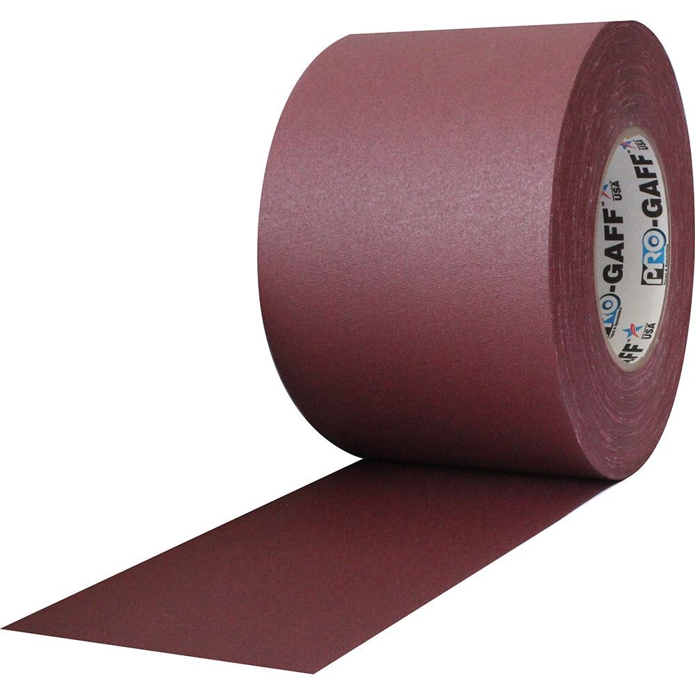 "Pro Gaff Tape - 4"" x 55yd, Burgundy - Neon Production Supply"