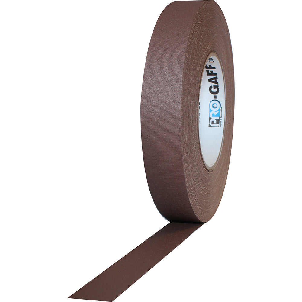 "Pro Gaff Tape - 1"" x 55yd, Brown - Neon Production Supply"