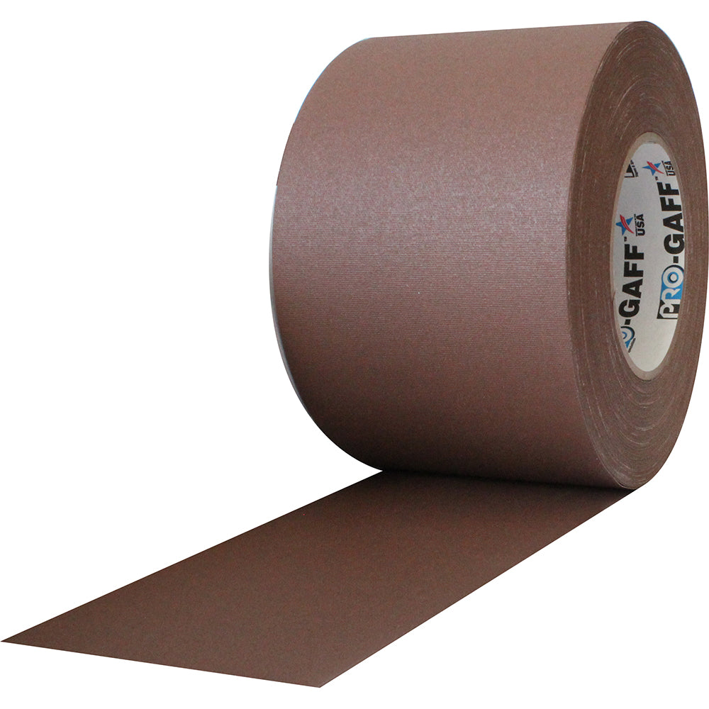 "Pro Gaff Tape - 4"" x 55yd, Brown - Neon Production Supply"