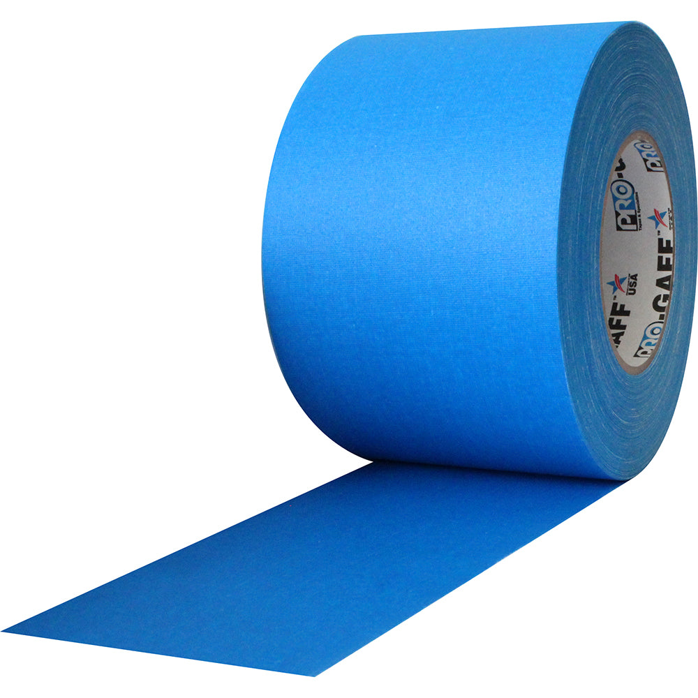 "Pro Gaff Tape - 4"" x 55yd, Electric Blue - Neon Production Supply"