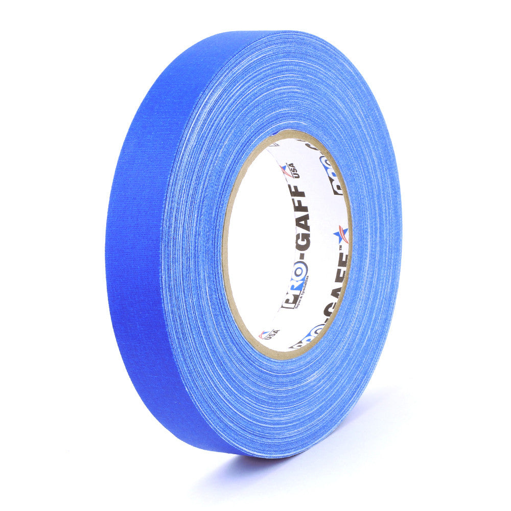 "Pro Gaff Tape - 1"" X 55yd, Electric Blue - Neon Production Supply"
