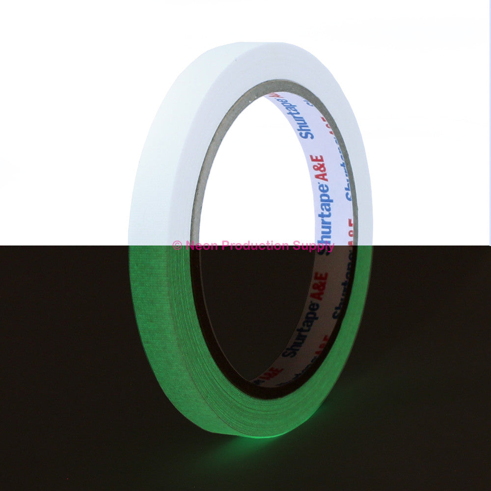 "Pro Gaff Spike Tape - 1/2"" X 10yd, Glow - Neon Production Supply"