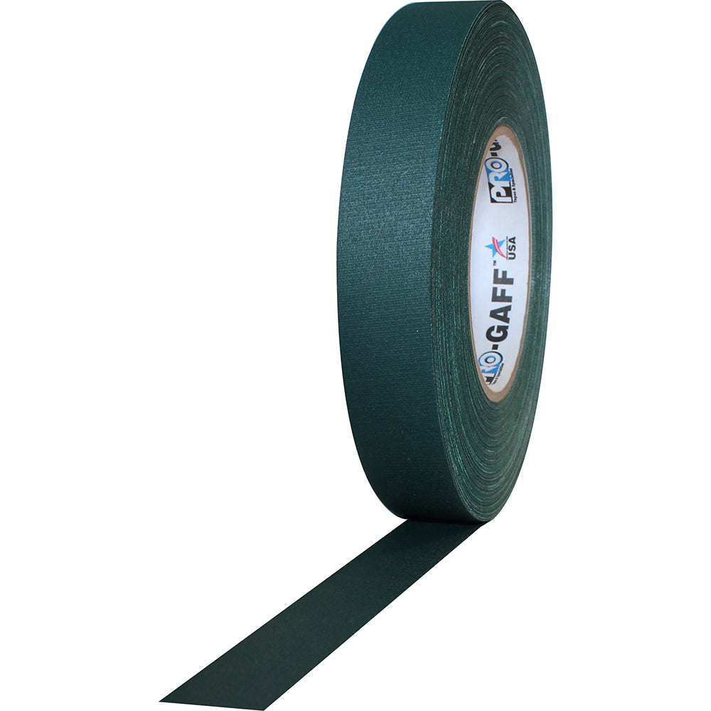"Pro Gaff Tape - 1"" X 50yd, Forest Green - Neon Production Supply"