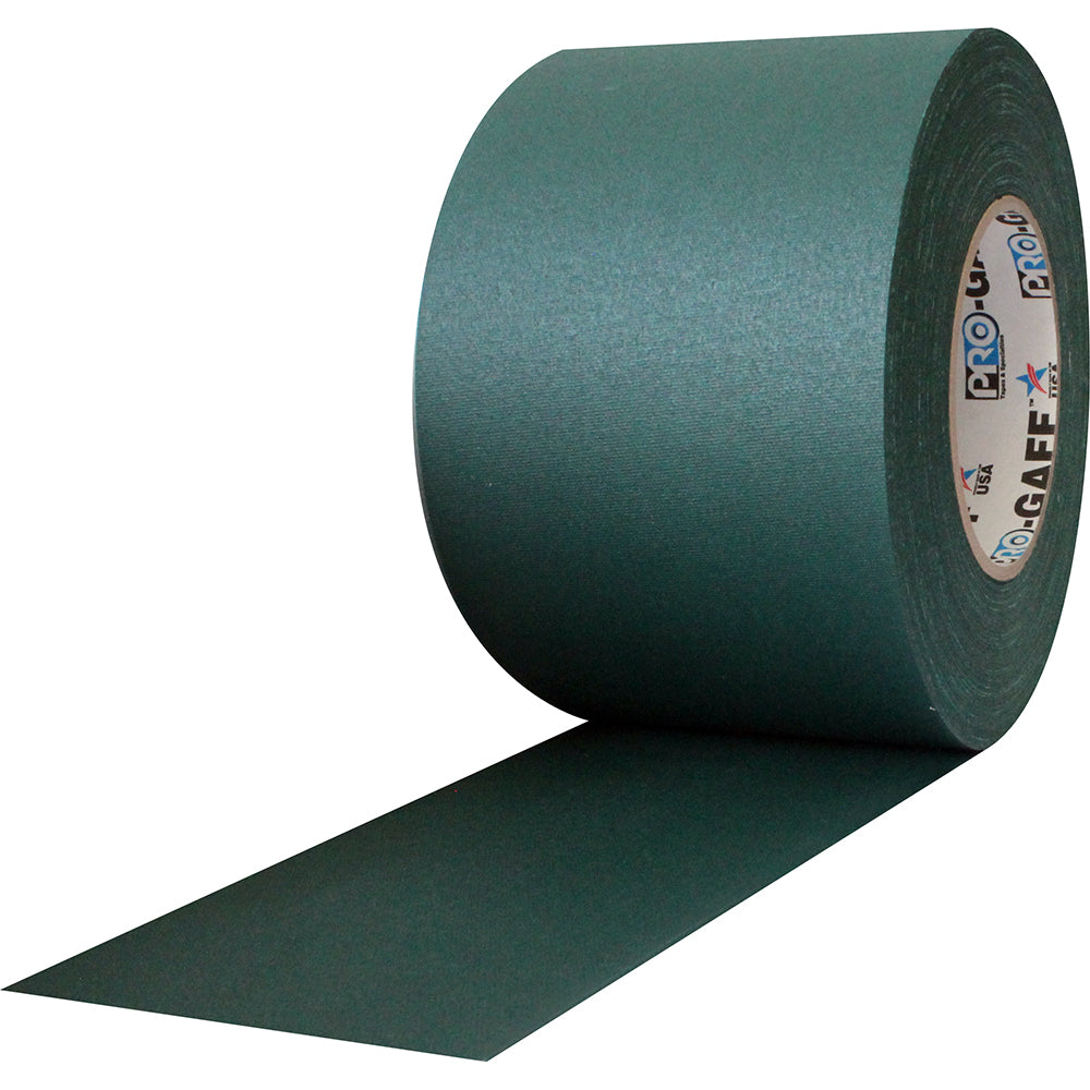 "Pro Gaff Tape - 4"" x 55yd, Green - Neon Production Supply"