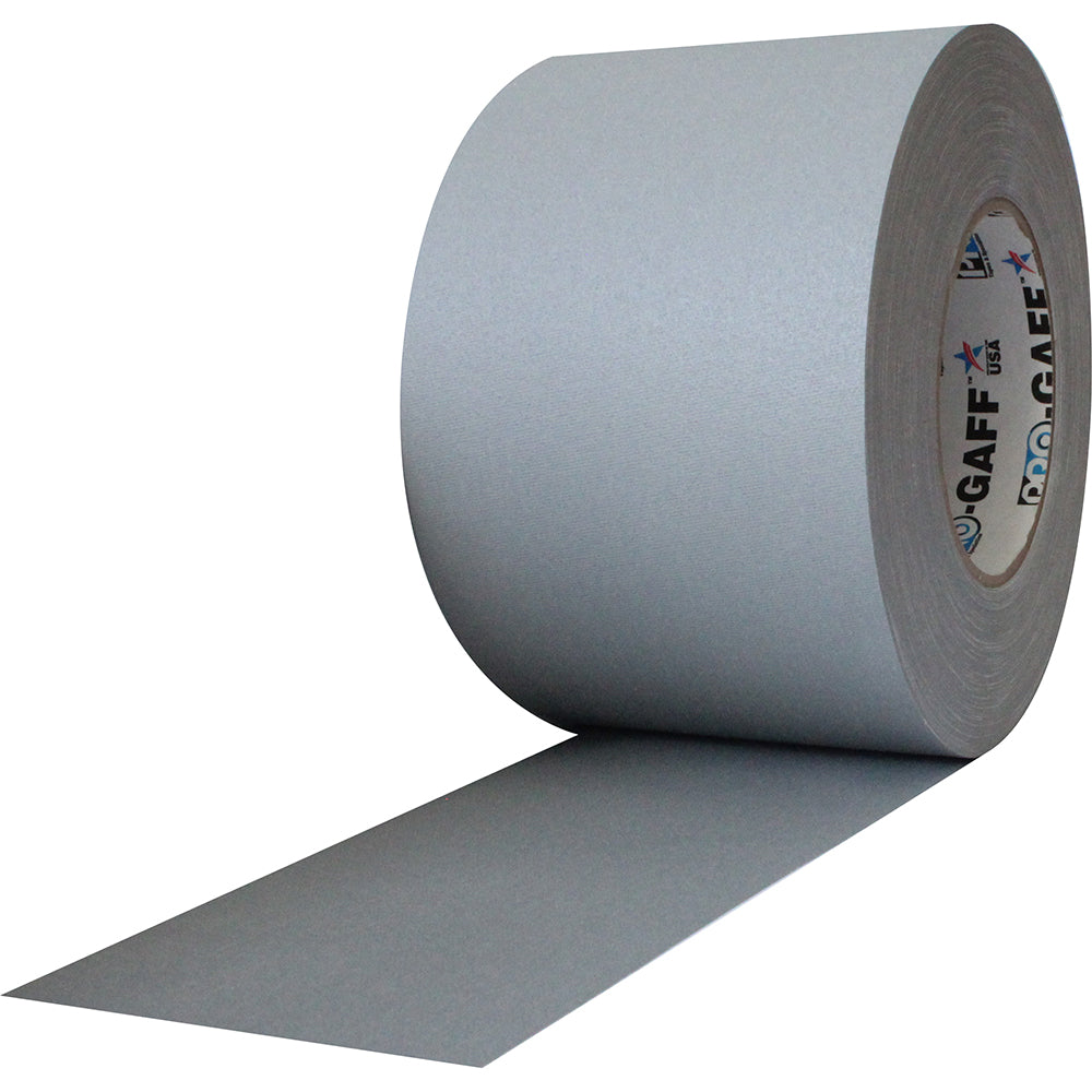 "Pro Gaff Tape - 4"" x 55yd, Grey - Neon Production Supply"