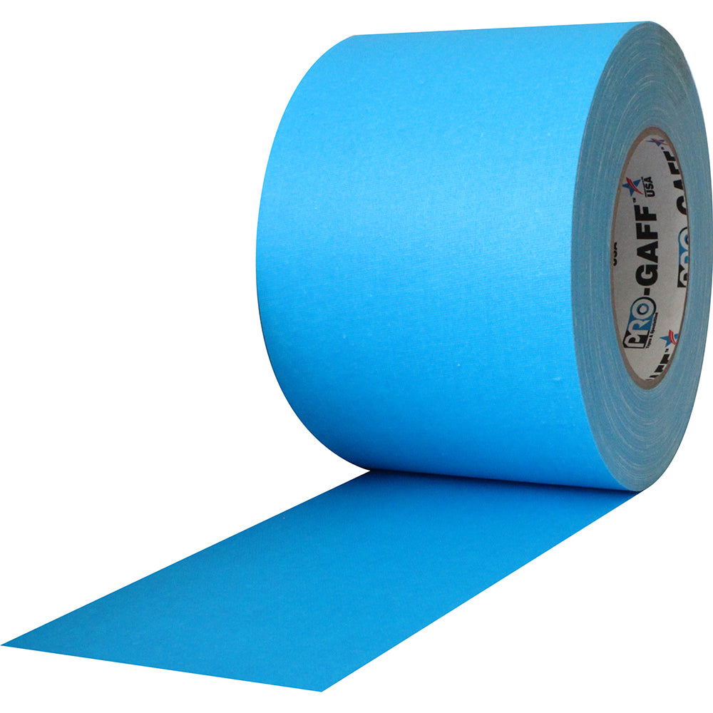 "Pro Gaff Tape - 4"" x 50yd, Neon Blue - Neon Production Supply"