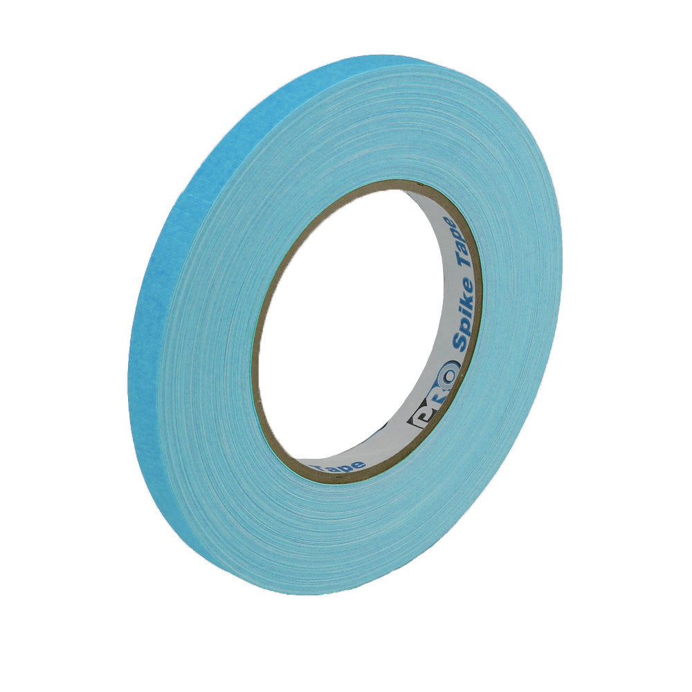 "Pro Gaff Spike Tape - 1/2"" X 45yd, Neon Blue - Neon Production Supply"
