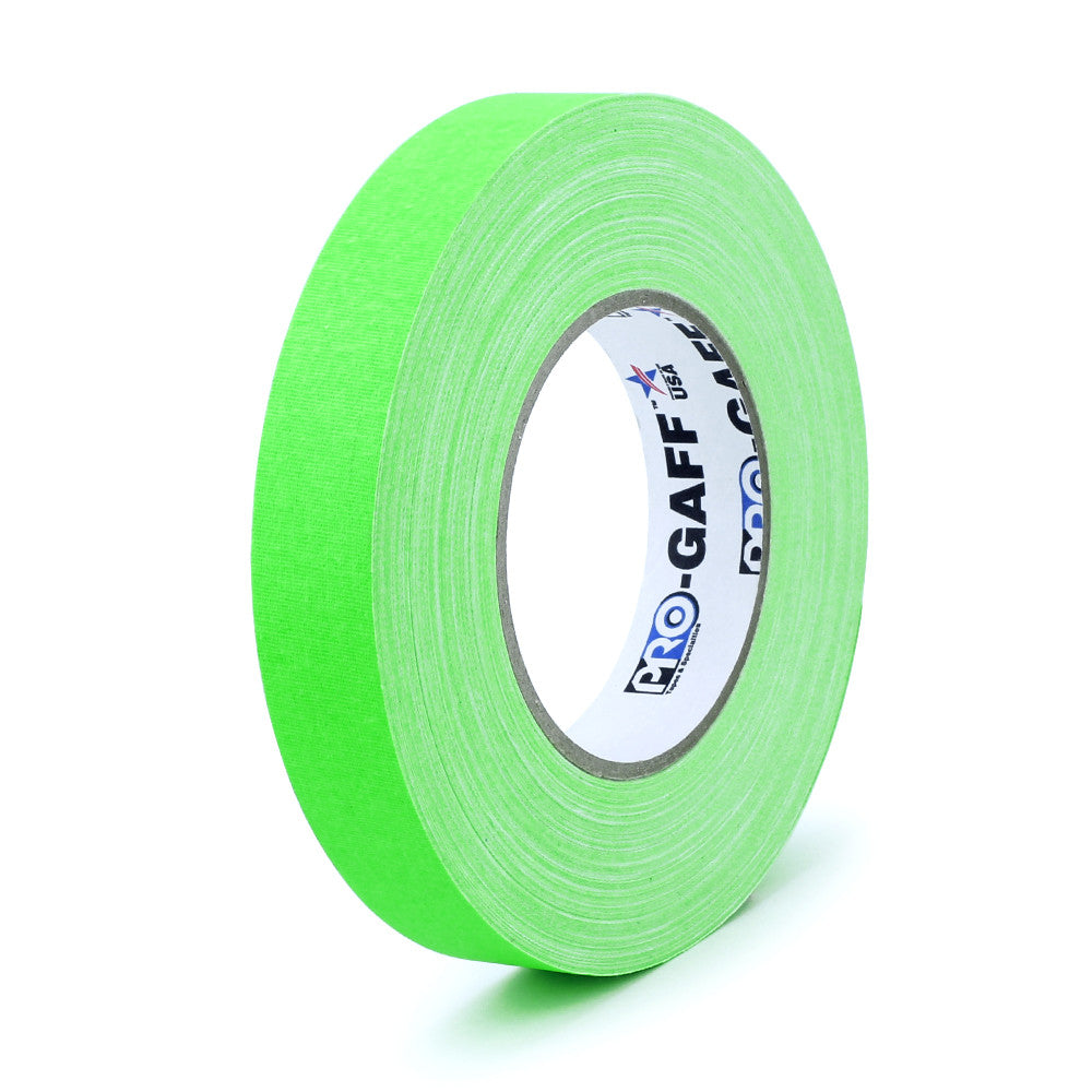 "Pro Gaff Tape - 1"" X 50yd, Neon Green - Neon Production Supply"