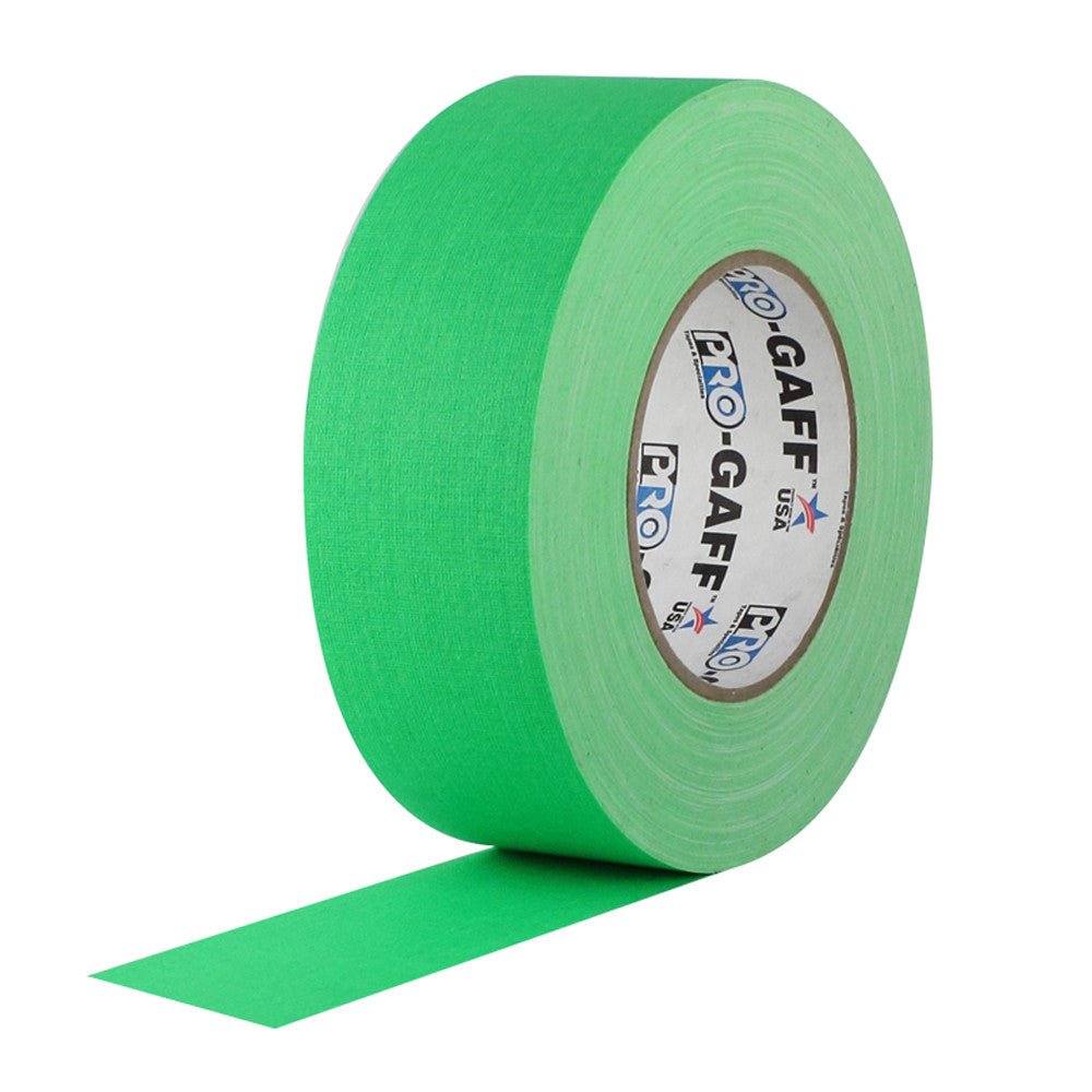 "Pro Gaff Tape - 2"" X 50yd, Neon Green"