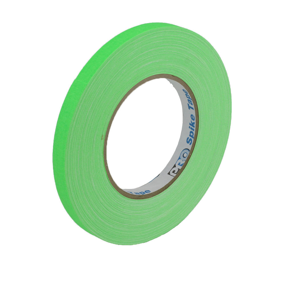 "Pro Gaff Spike Tape - 1/2"" X 45yd, Neon Green - Neon Production Supply"