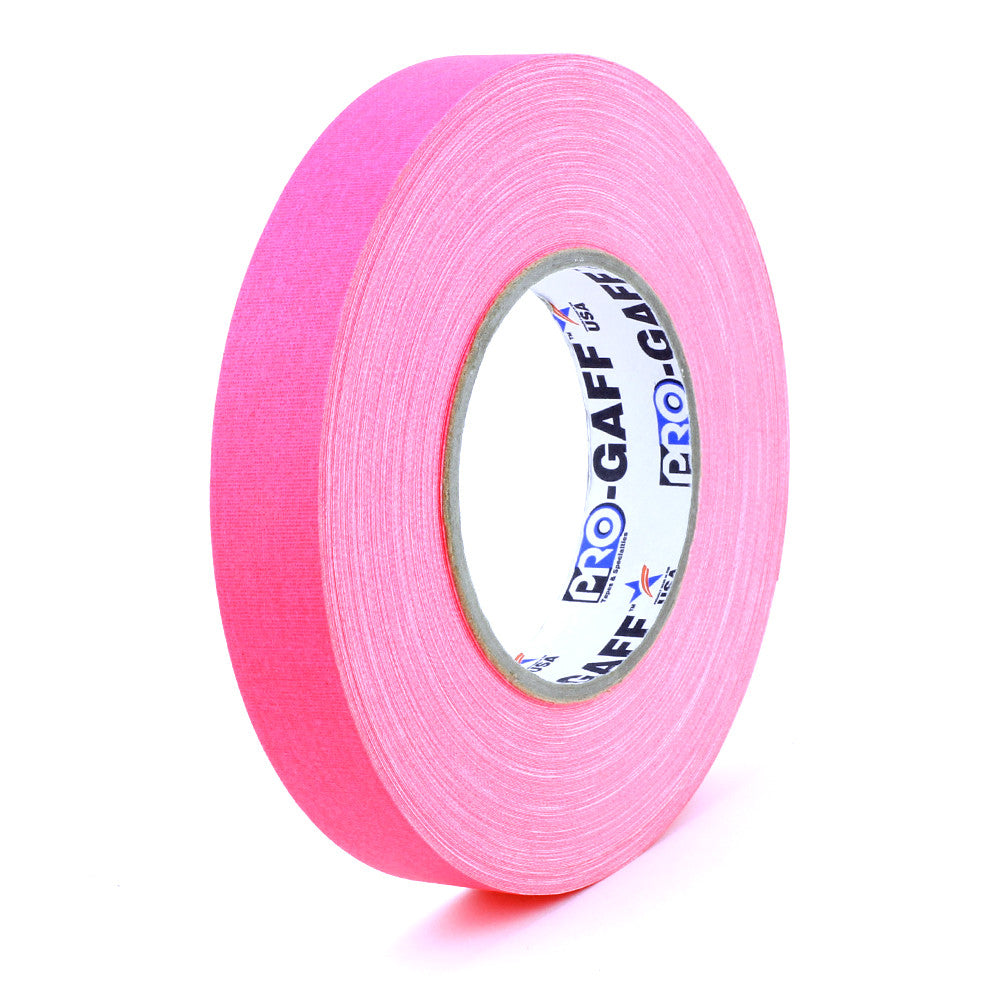 "Pro Gaff Tape - 1"" X 50yd, Neon Pink - Neon Production Supply"