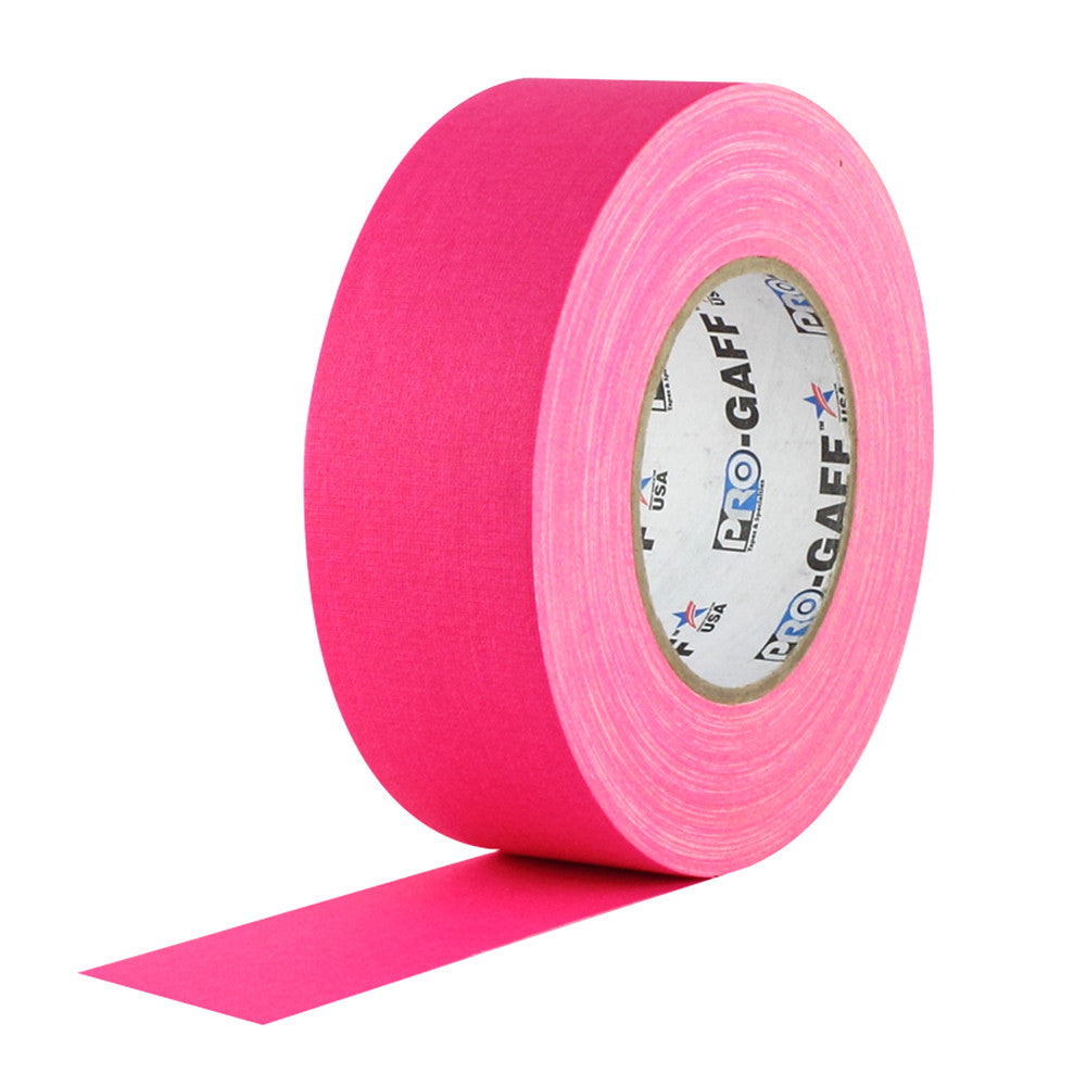 "Pro Gaff Tape - 2"" X 50yd, Neon Pink - Neon Production Supply"