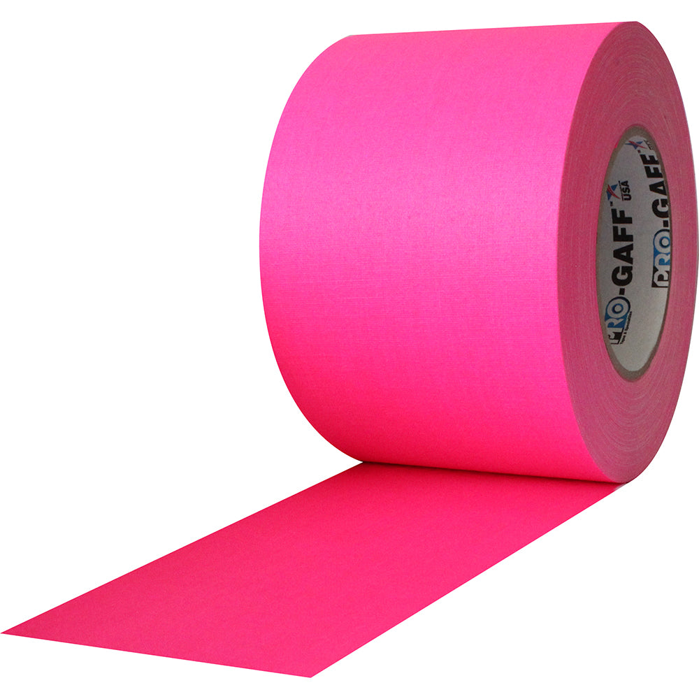 "Pro Gaff Tape - 4"" x 50yd, Neon Pink - Neon Production Supply"