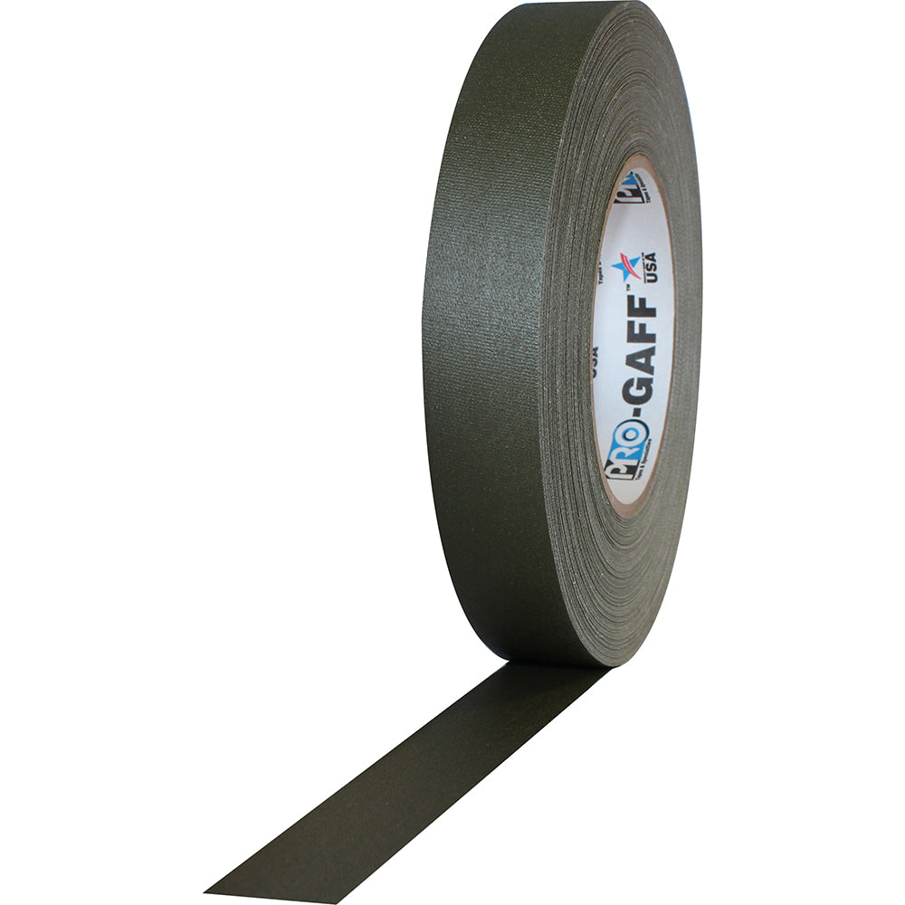 "Pro Gaff Tape - 1"" x 55yd, Olive Drab - Neon Production Supply"