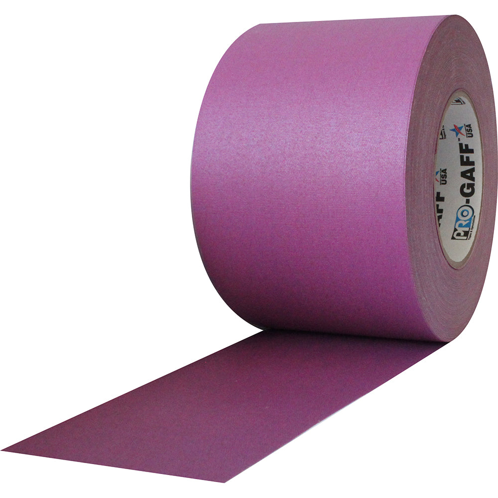 "Pro Gaff Tape - 4"" x 55yd, Purple - Neon Production Supply"