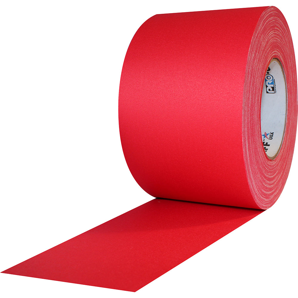 "Pro Gaff Tape - 4"" x 55yd, Red - Neon Production Supply"