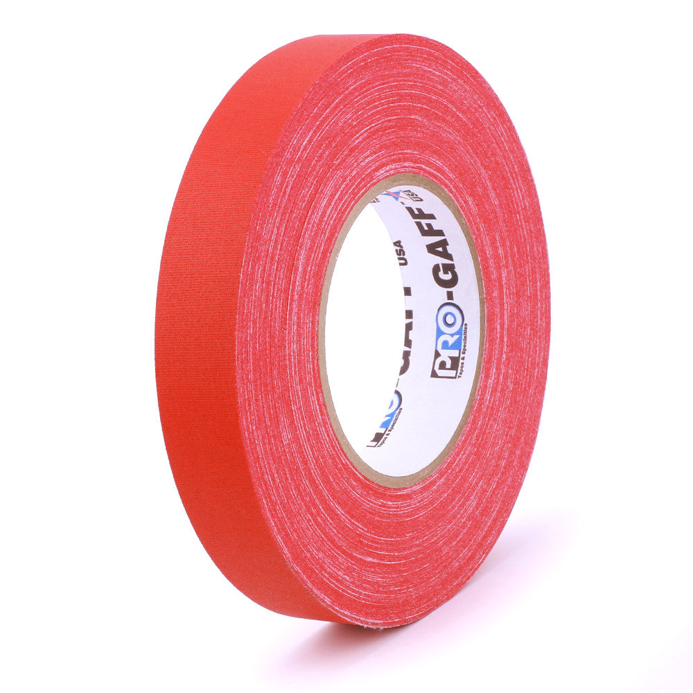 "Pro Gaff Tape - 1"" X 55yd, Red - Neon Production Supply"