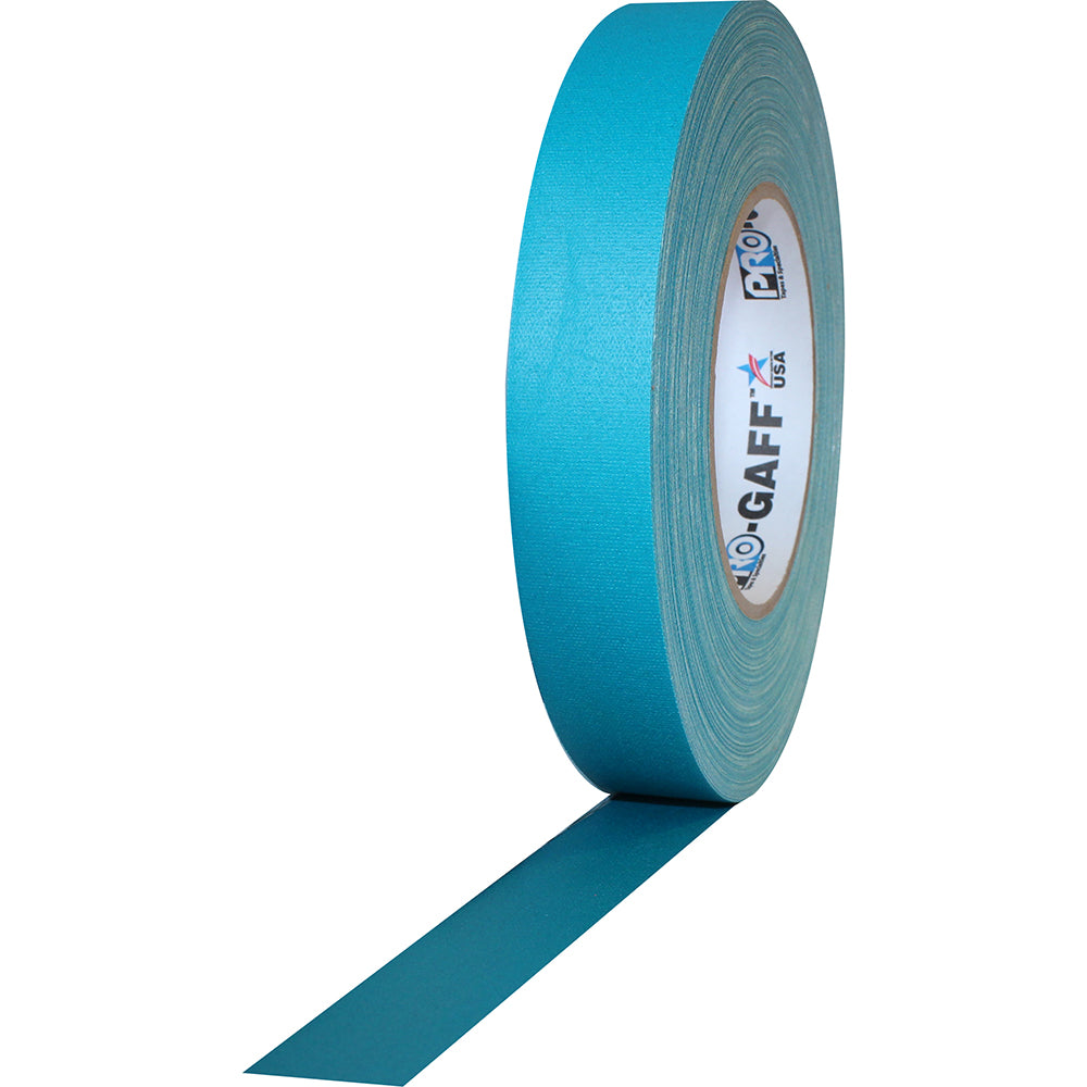 "Pro Gaff Tape - 1"" x 55yd, Teal - Neon Production Supply"