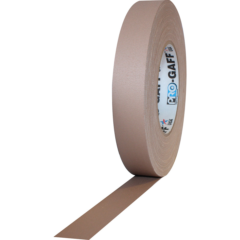"Pro Gaff Tape - 1"" x 55yd, Tan - Neon Production Supply"