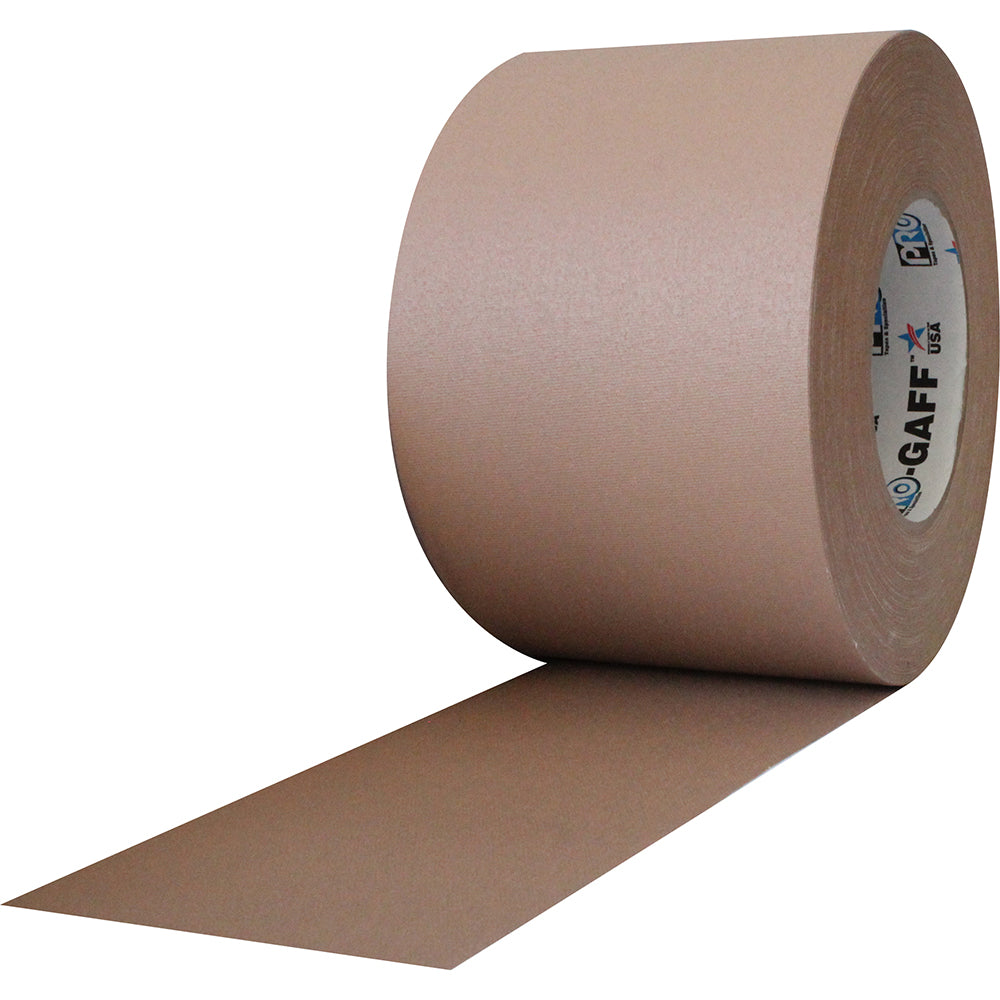 "Pro Gaff Tape - 4"" x 55yd, Tan - Neon Production Supply"