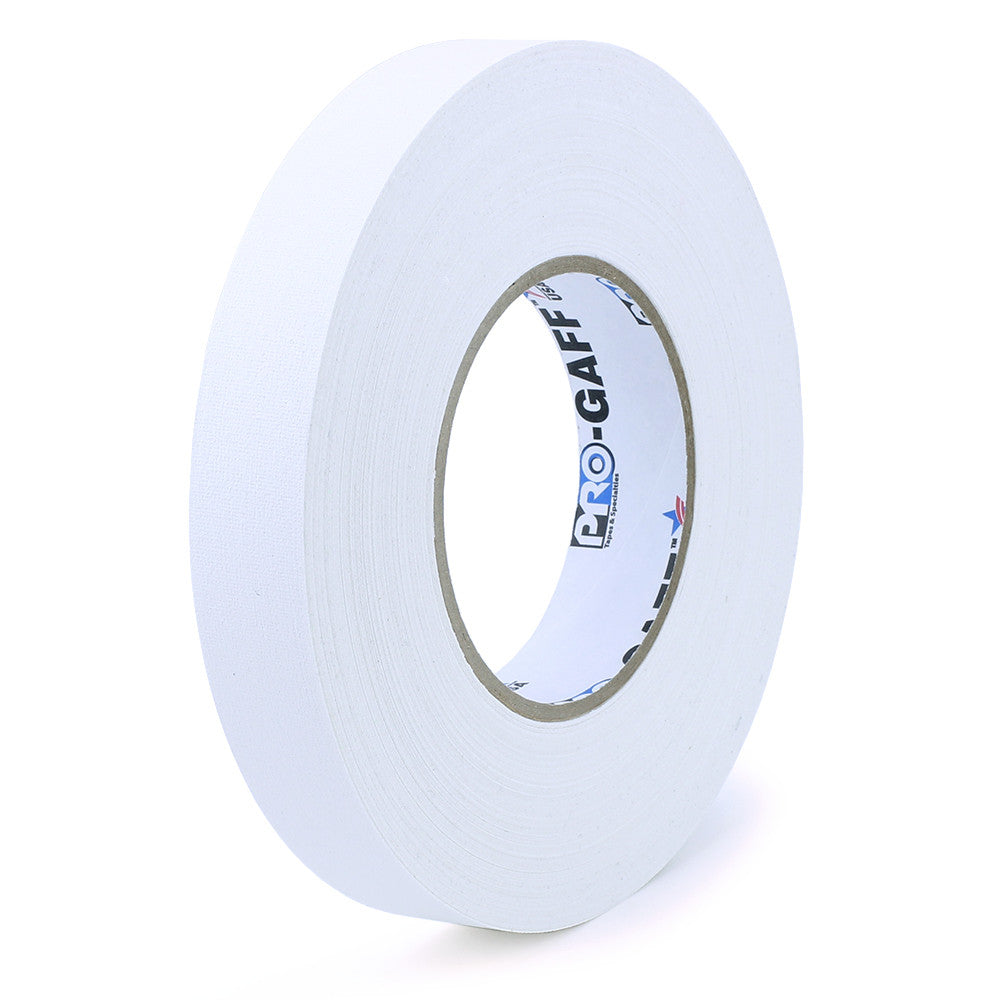 "Pro Gaff Tape - 1"" X 55yd, White - Neon Production Supply"