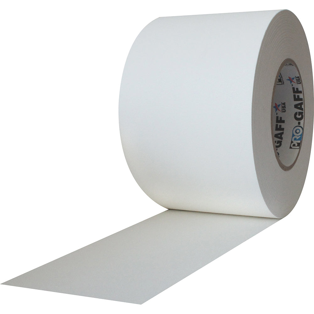 "Pro Gaff Tape - 4"" x 55yd, White - Neon Production Supply"