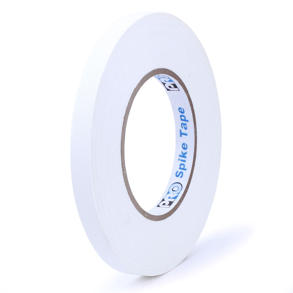 "Pro Gaff Spike Tape - 1/2"" X 45yd, White - Neon Production Supply"