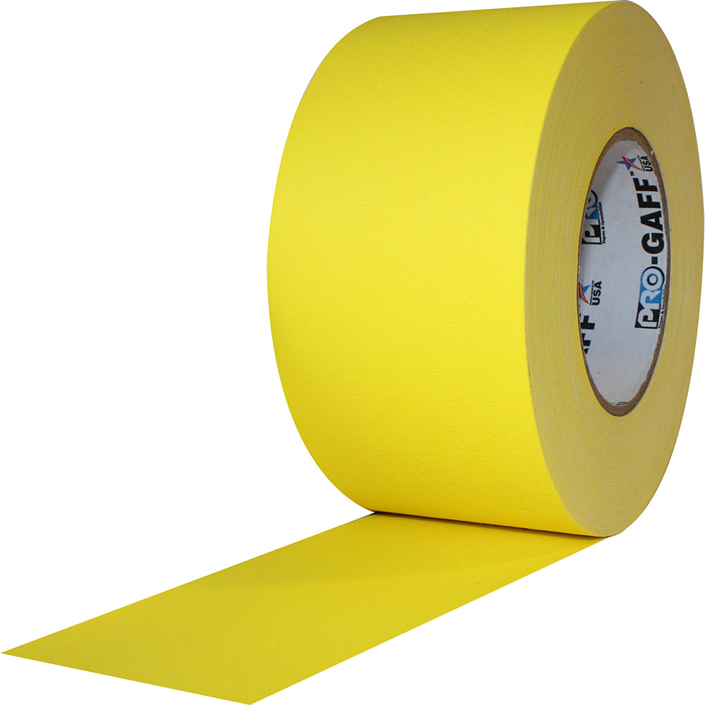 "Pro Gaff Tape - 3"" x 55yd, Yellow"