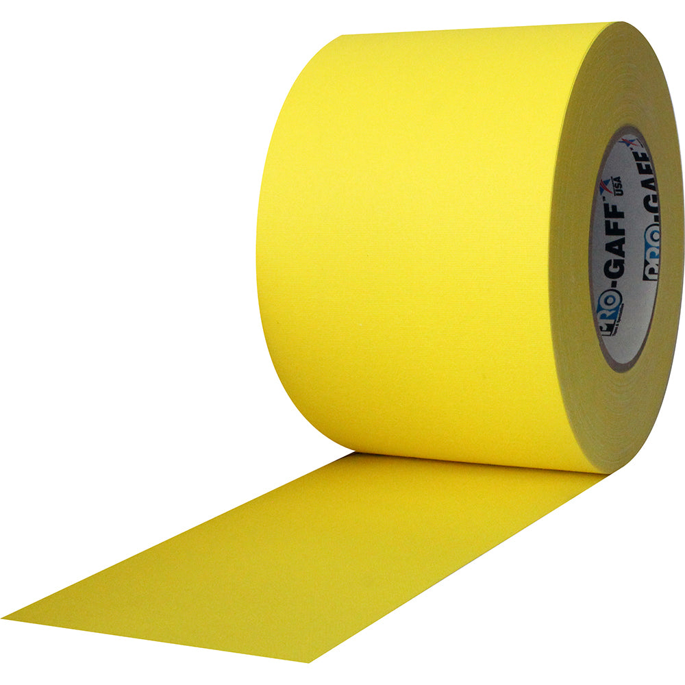 "Pro Gaff Tape - 4"" x 55yd, Yellow - Neon Production Supply"