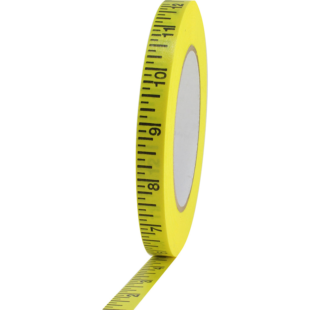 "Pro Imperial Measurement Tape - 1"" x 50yd, Yellow"