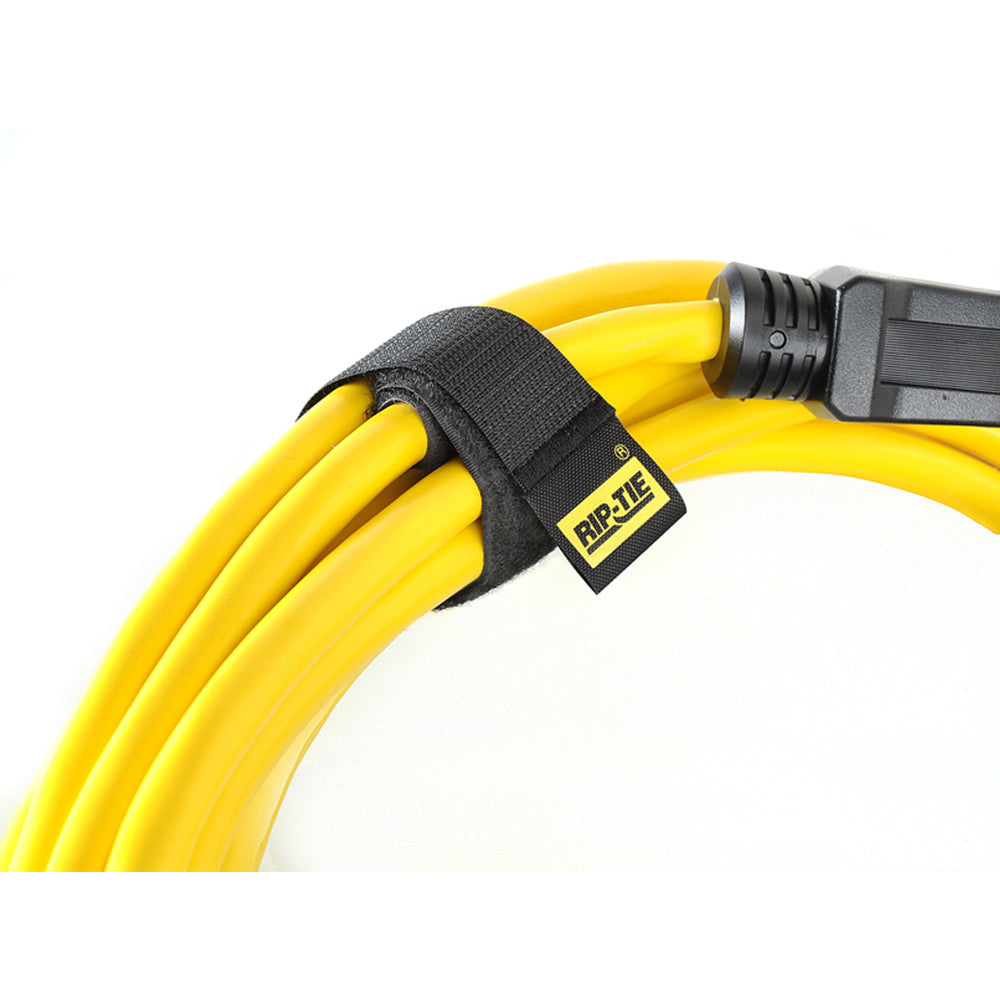 "Rip Tie CableWrap - 1"" x 9"", 10 pack, Black - H-09-010-BK - Neon Production Supply"