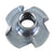 NPS 1/4-20 Tee Nut, 4 Prong, 100 Pack
