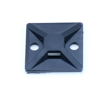 "Hellermann Tyton Cable Tie Mount - 3/4"" x 3/4"", 100 Pack, Black - MB3A0C2 - Neon Production Supply"