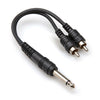 "Hosa Y Cable - 1/4"" TSM to 2x RCAM, 6"" - YPR-124 - Neon Production Supply"