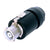 Neutrik powerCON Inline Connector - 32 Amp, Black - NAC3FC-HC