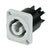 Neutrik powerCON Chassis Connector - Out, Gray - NAC3MPB
