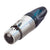 Neutrik 5 Pin Inline Female XLR Connector, Nickel/Silver - NC5FXX