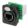 Neutrik etherCON Cat5 Chassis Mount - IDC Termination, Black - NE8FDV-Y110-B - Neon Production Supply