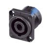 Neutrik 4-Pin Chassis speakON Connector, D-Size Flange - NL4MP - Neon Production Supply