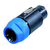 Neutrik 8-Pin speakON Inline Connector - NL8FC - Neon Production Supply