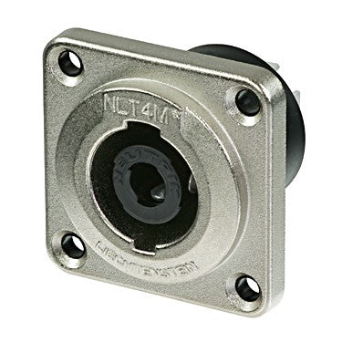 Neutrik 4-Pin Metal Chassis Speakon Connector - NLT4MP