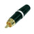 Rean/Neutrik RCA Inline Male Connector - Gold Contacts, White Stripe - NYS373-WE
