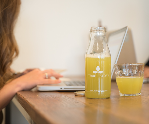 Pack - TrueStory Juicery based in Amsterdam. Raw, cold pressed and healthy