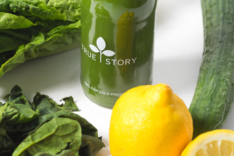 A green juice containing vitamins,minerals,detox, cleanse, revitalize,glow,balance