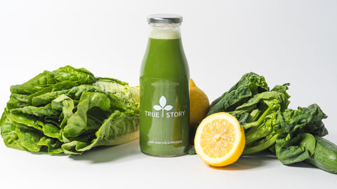 Gentle detox juice with Spinach, Cucumber, Fennel, Parsley, Apple