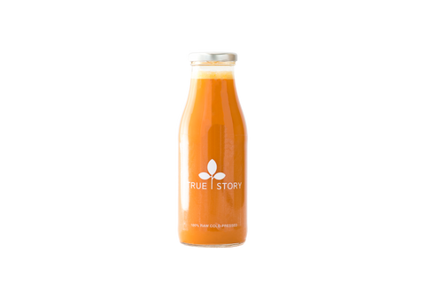 Includes yellow beet, orange, carrot, lemon, ginger, great for building endurance, and boosting fatigue levels.